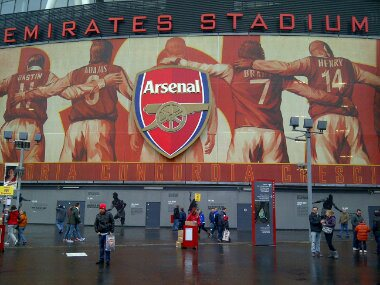 The home of the mighty Arsenal. December 31, 2011.